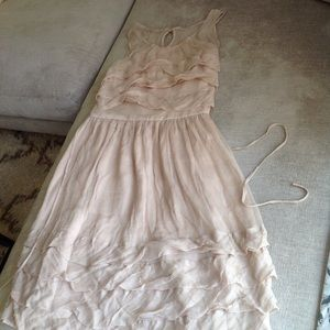 Silk Anthropologie Burlapp cocktail wedding dress